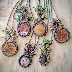 Blast from the past 🌳🌿🍃 oh how I love the Tree of Life Necklaces 🍃🌿🌳 these are all re-homed now. I need to make a few more of these beauties with some gemstone centres. It will be a project for the next 15 days leading up to the Earth Frequency Festival 🎶🎆🎵🌈 I'm looking forward to seeing what new trees await to manifest, each tree takes approximately 6.5hrs to create 👐  #treeoflife #treenecklace #treependant #treeoflifejewelry #treeoflifependant #treeoflifenecklace…