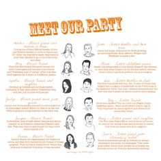 meet our party as part of the wedding program. super cute
