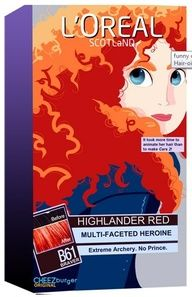 Merida Hair Dye! I would so buy this...if it actually worked