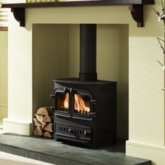Wirral Fires Ltd trading as Fireplace Store Online - Villager Chelsea Duo Multi-fuel / Wood-burning Stove Bungalow, Inglenook Fireplace, Fireplaces, Wood Fuel, Snug Room, Chelsea, Multi Fuel Stove, Log Burner, Wood Burning