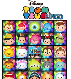 FREE Tsum Tsum Birthday Party Bingo