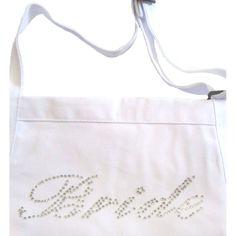 Rhinestone bride apron