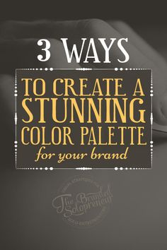 A huge part of instantly recognizable branding is defining a color palette. Here are 3 free ways to create a color palette for your brand and blog, including the free tool needed for each method.