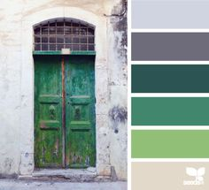 a door palette (via Bloglovin.com )