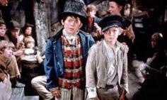 The Artful Dodger (Jack Wild) and Oliver Twist (Mark Lester) in Oliver! (1968)