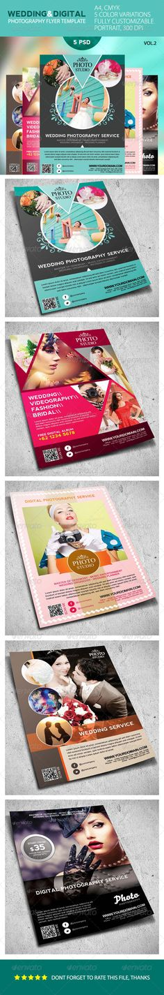 Wedding And Digital Photography Flyer  — PSD Template #discount #a4 • Download ➝ https://graphicriver.net/item/wedding-and-digital-photography-flyer/4698466?ref=pxcr