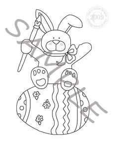 Egg Painter Applique Stitchery Painting Pattern by petestreasures, $1.50