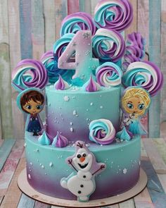 Baby shower ideas for girs food cupcake cakes pink 35 Super ideas Frozen Birthday Party, Themed Birthday Cakes, Birthday Cake Girls, Themed Cakes, 5th Birthday, Olaf Party, Turtle Birthday, Turtle Party, Carnival Birthday