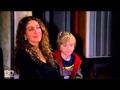 Robert Plant doing an Interview. Pictured are his daughter Carmen and her son.  Robert's grandson .