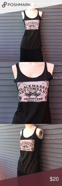NWOT- BLACK MARKET ART COMPANY- Ouija board shirt NWOT- BLACK MARKET ART COMPANY- Ouija board shirt never worn black market art company Tops Tank Tops