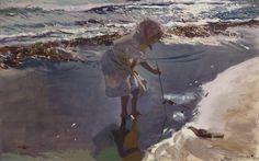 Buscando mariscos, playa de Valencia (1907)