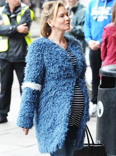 Renée Zellweger Shows Off Fake Baby Bump While Filming New 'Bridget Jones's Diary' Movie — See the Pics!