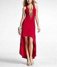 Great dress for a Charity Chic right??? HI-LO HEM KNIT MAXI DRESS