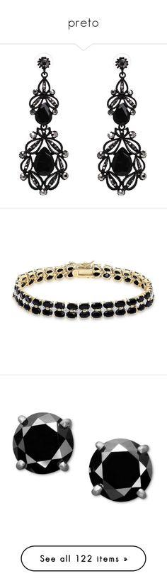 """""""preto"""" by danigabateli ❤ liked on Polyvore featuring jewelry, earrings, brinco, crystal stone jewelry, crystal jewellery, imitation earrings, imitation jewellery, fake earrings, bracelets and yellow"""