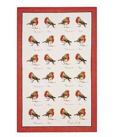 Robins Linen Tea Towel #zulily #zulilyfinds