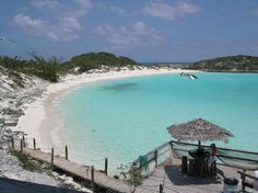 Exuma Islands Bahamas. This place was amazing! We snorkled with sharks and walked on a sand bar in the middle of the ocean & fed the iguanas all by a speed boat
