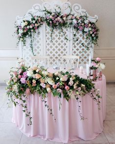 Floral Wedding Decorations, Flower Decorations, Wedding Day Wishes, Our Wedding, Wedding Trellis, Wedding Bouquets, Wedding Flowers, Sweetheart Table Decor, Planner Decorating