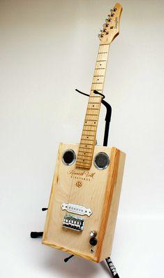 Douglas Volk Wine Box Electric Acoustic Guitar Handmade, Beautiful