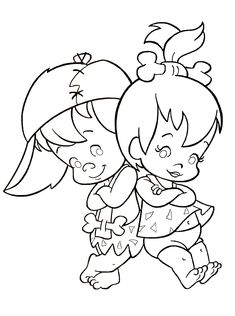 flintstones coloring book page - Kids Coloring Book Pages