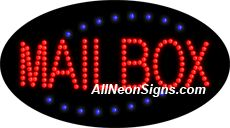 """Animated MailBox LED Sign-ANSAR24054  15""""x27""""x1""""  Animated  8lbs  Indoor use only  Low energy cost: Uses ONLY 10 Watts of power  Expected to last at least 100,000 hrs  Cool and safe to touch, low voltage operation  High visibility, even in daylight  Easy to clean, Easy to install, Slim & Light Weight  Maintenance FREE  1 YEAR Warranty."""