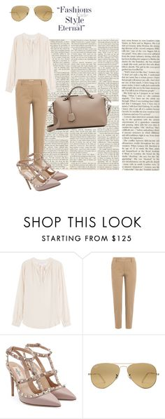 """""""Style's eternal"""" by rhaxkido ❤ liked on Polyvore featuring Velvet, Brunello Cucinelli, Valentino, Ray-Ban and Fendi"""