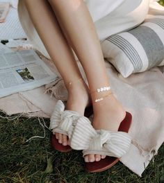 Its never too late to wear cute anklets #evesjewel #choosehandmade Cute Anklets, Eve, Ribbon, Jewels, Sandals, Handmade, How To Wear, Shoes, Instagram