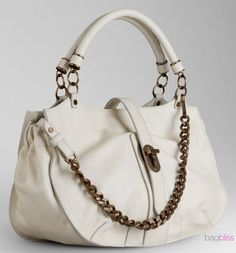 Burberry...I don't like white bags however, I will make an excpetion for this one
