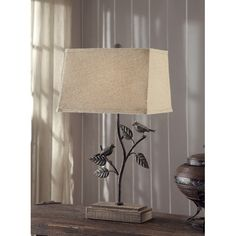"Crestview Collection Park Side 28"" H Table Lamp with Empire Shade"
