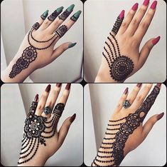 Beautiful henna inspo 😍😍😍😍😍 Which design is your fav? Palm Henna Designs, Peacock Mehndi Designs, Finger Henna Designs, Indian Mehndi Designs, Mehndi Designs For Girls, Modern Mehndi Designs, Mehndi Design Pictures, Beautiful Mehndi Design, Bridal Mehndi Designs
