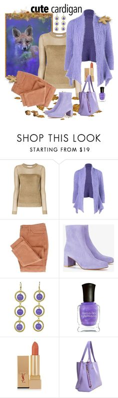 """Cute Cardigan"" by giovanina-001 ❤ liked on Polyvore featuring MICHAEL Michael Kors, Maryam Nassir Zadeh, jared, Deborah Lippmann, Yves Saint Laurent and Dasein"