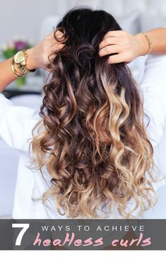 Hair Styles Ideas : Illustration Description 7 ways to achieve Heatless curls! The best way to protect your hair from unwanted heat damage! Hair Styles 2016, Medium Hair Styles, Curly Hair Styles, Medium Hairs, Heatless Curls Overnight, Heatless Waves, Heatless Curls Tutorial, No Heat Curls Overnight, Heatless Hair