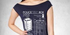 Tardis Blueprints T Dress american apparel S M L by GeekyU1