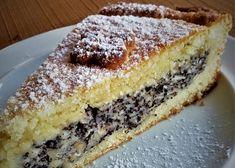 Jablečno-makový koláč z křehkého těsta recept - TopRecepty.cz Apple Recipes, Cake Recipes, Poppy Cake, Graham Crackers, Apple Pie, Tiramisu, Banana Bread, French Toast, Cookies
