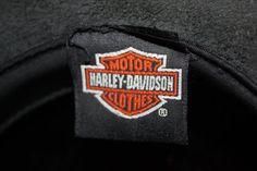 SALE Harley Davidson Black Leather Hat by VintagebyViola on Etsy, $44.00