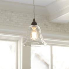 Hardwire light adapter with glass shade.  Turn recess light into pendant. Ballard Designs
