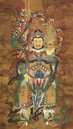 Tuō​tǎ​tiān​wáng​ (a.k.a. Li Jing), the pagoda-bearing deity. His tower has the power to capture any spirit, demon, or deity within its walls,