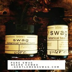 """BEARD OIL/BEARD BUTTER COMBO """"PURE SWAG""""  Get an awesome gift for that bearded man in your life today! We focus on making beard's soft keeping them well groomed and smelling good.  One of the most distinctive benefits of Jamaican Black Castor Oil is its amazing effect on the hair. JBCO will make your hair shiny strong and thick. Jamaican Black Castor Oil provides the hair and the scalp with a bulk of valuable and necessary nutrients it stimulates blood circulation and provides anti-fungal…"""