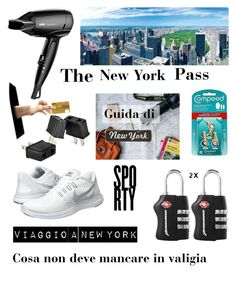 """Viaggio a New York, cosa  non deve mancare in valigia"" by karin-varignani on Polyvore featuring Braun e NIKE"