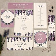 #papeterie #hochzeit #purple #lavendel #naturpapier #vintage #retro #floral #blumenprint #handgemalt #herzkarten #watercolor #aquarell #passionforpaper #lettering #hochzeit #braut #kartenset #einladung