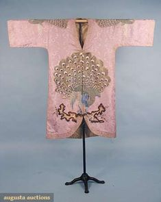 Augusta Auctions, April 2009 Vintage Fashion and Textile Auction, Lot 328: Embroidered Silk Evening Coat, 1920s