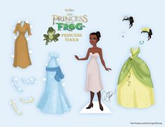 Print out princess Paper Dolls for your students. This artist has lots to choose from