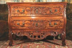 "18thC Marriage Commode (chest of drawers)  ""with lunette"". From Provence."