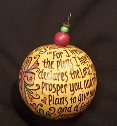 Love theses personalized scripture ornament via Etsy.