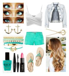 """Daughter Of Poseidon"" by far-ra-ree ❤ liked on Polyvore featuring Gorgeous Cosmetics, Lauren B. Beauty, Charlotte Russe, MAKE UP FOR EVER, Blue Nile and J.TOMSON"