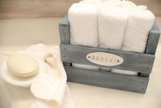 DIY Stained Washcloth crate