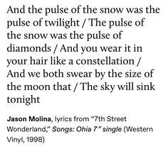 The Snow Child, Black Water, Constellations, Winter, Lyrics, Charms, Glow, Feelings, Night