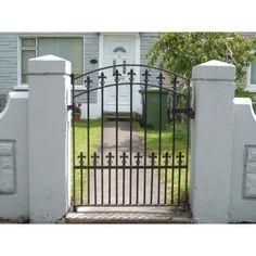 Metal Gates - Dublin Quality Gates - Gates and Railings Made to Order Wooden Garden Gate, Garden Gates, Gates And Railings, Side Gates, Metal Gates, Security Door, Dublin, Deck, Outdoor Structures