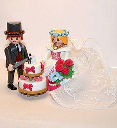 playmobil® figurines mariage . Couple de mariés Playmobil avec  gâteau de mariage. Dernier en stock .