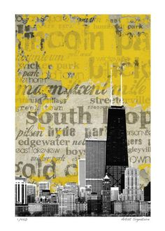 Potential new poster for my room. --Chicago Neighborhoods Limited Edition by M.J. Lew at AllPosters.com
