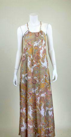 White Paisley Maxi Dress